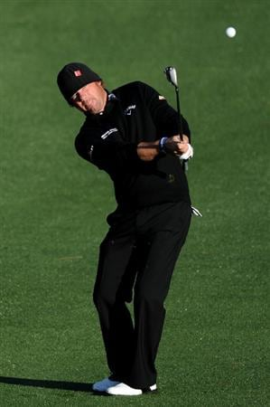 AUGUSTA, GA - APRIL 07:  Alex Cejka of Germany hits an approach shot on the second hole during the first round of the 2011 Masters Tournament at Augusta National Golf Club on April 7, 2011 in Augusta, Georgia.  (Photo by Harry How/Getty Images)