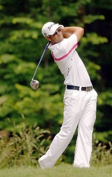 James Nitties tees off during the Final Round of the Chattanooga Classic at Black Creek Club in Chattanooga, Tennessee on June 5, 2005.Photo by Joe Murphy/WireImage.com