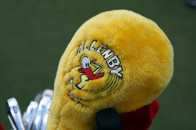 DORAL, FL - MARCH 11: Robert Allenby of Australia's driver headcover during the final day of practice for the World Golf Championships-CA Championship at the Doral Golf Resort & Spa on March 10, 2009 in Miami, Florida  (Photo by David Cannon/Getty Images)