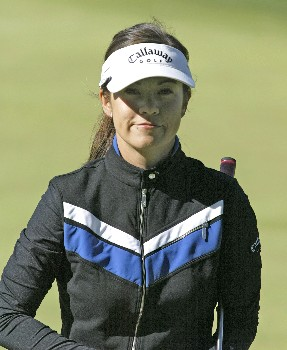 Leta Lindley during the first round of the 2005 Sybase Classic at Wykagyl Country Club in New Rochelle, New York on May 19, 2005.Photo by Michael Cohen/WireImage.com