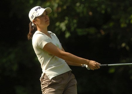 Stacy Prammanasudh in action during the first round of the LPGA's Wendy's Championship For Children at Tartan Fields Golf Club in Dublin, Ohio August 25, 2005.Photo by Steve Grayson/WireImage.com