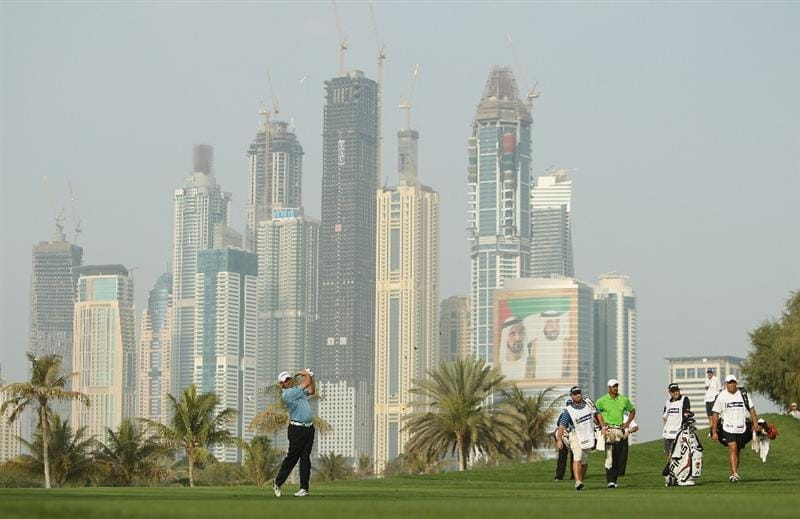 DUBAI, UNITED ARAB EMIRATES - FEBRUARY 11:  Lee Westwood of England competes during the second round for the 2011 Omega Dubai desert Classic held on the Majilis Course at the Emirates Golf Club on February 11, 2011 in Dubai, United Arab Emirates.  (Photo by Ian Walton/Getty Images)