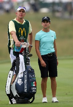 HAVRE DE GRACE, MD - JUNE 10:  Lorena Ochoa of Mexico prepares to hit her second shot at the par 4, 1st hole during the final round of the 2007 McDonald's LPGA Championship on June 10, 2007 at Bulle Rock Golf Course in Havre de Grace, Maryland.  (Photo by David Cannon/Getty Images)