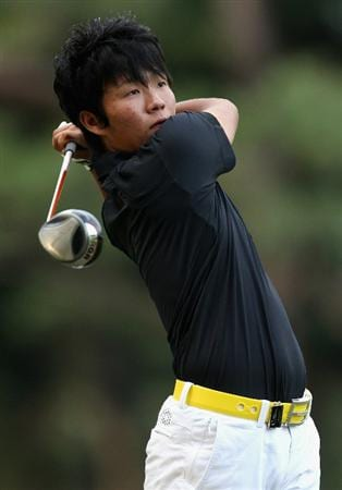 KAWAGOE CITY, JAPAN - OCTOBER 07:  Yosuke Asaji of Japan during the first round of the 2010 Asian Amateur Championship at Kasumigaseki Country Club on October 7, 2010 in Kawagoe City, Japan.  (Photo by Streeter Lecka/Getty Images)