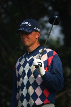SHANGHAI, CHINA - NOVEMBER 07:  Niclas Fasth of Sweden on course during the Pro-Am prior to the HSBC Champions Trophy at the Shanghai Exhibition Centre on November 7, 2007 in Shanghai, China.  (Photo by Andrew Redington/Getty Images)