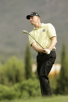 Soren Hansen during the final round of the 2005 Mallorca Classic at the Pula Golf Club. October 23, 2005Photo by Pete Fontaine/WireImage.com