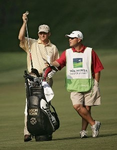 Jason Bohn during the first round of the 2007 Wachovia Championship held at Quail Hollow Country Club in Charlotte, North Carolina on May 3, 2007. PGA TOUR - 2007 Wachovia Championship - First RoundPhoto by Sam Greenwood/WireImage.com
