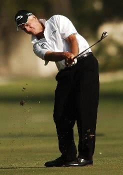 Bruce Fleisher hits from the 14th fairway during the final round of the 2005 FedEx Kinko's Classic at the Hills Country Club in Austin, Texas May 1, 2005.Photo by Steve Grayson/WireImage.com