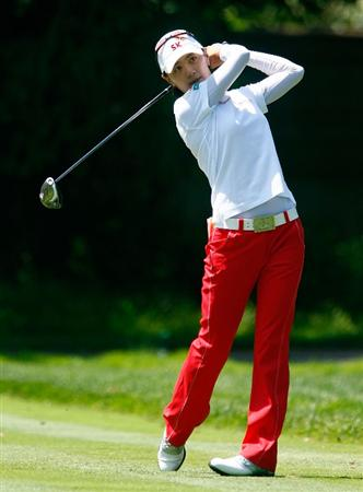 BETHLEHEM, PA - JULY 10:  Na Yeon Choi of South Korea watches her tee shot on the 14th hole during the second round of the 2009 U.S. Women's Open at the Saucon Valley Country Club on July 10, 2009 in Bethlehem, Pennsylvania.  (Photo by Scott Halleran/Getty Images)