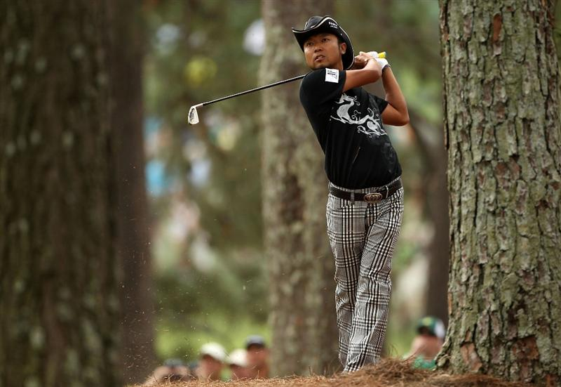 AUGUSTA, GA - APRIL 08: Shingo Katayama of Japan plays a shot on the first hole during the first round of the 2010 Masters Tournament at Augusta National Golf Club on April 8, 2010 in Augusta, Georgia.  (Photo by Andrew Redington/Getty Images)