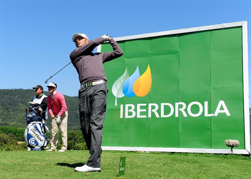 MALLORCA, SPAIN - MAY 15:  Andrew Marshall of England plays his tee shot on the 13th hole during the third round of the Open Cala Millor Mallorca at Pula golf club on May 15, 2010 in Mallorca, Spain.  (Photo by Stuart Franklin/Getty Images)