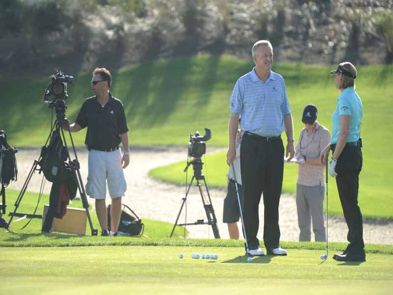 Golf Channel Academy, Martin Hall and Annika Sorenstam