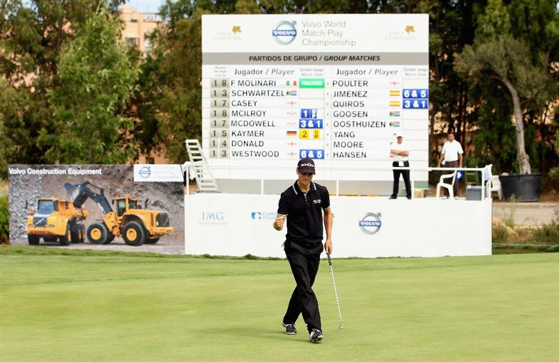 CASARES, SPAIN - MAY 19:  Martin Kaymer of Germany in action during the group stages of the Volvo World Match Play Championship at Finca Cortesin on May 19, 2011 in Casares, Spain.  (Photo by Andrew Redington/Getty Images)