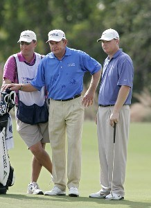 Nick Price and partner Chad Campbell during the third and final round of the Merrill Lynch Shootout at the Tiburon Golf Club in Naples, Florida on November 12, 2006. PGA TOUR - 2006 Merrill Lynch Shootout - Final RoundPhoto by Michael Cohen/WireImage.com