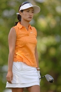 Grace Park in action during the second round of the 2006 Franklin American Mortgage Championship benefiting the Monroe Carell Jr. Children's Hospital at Vanderbilt at Vanderbilt Legends Club in Franklin, Tennessee on May 5, 2006.Photo by Steve Grayson/WireImage.com