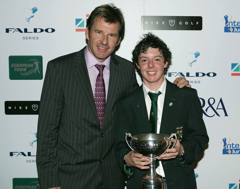 Rory McIlroy at the 2004 U15 Faldo Series Final