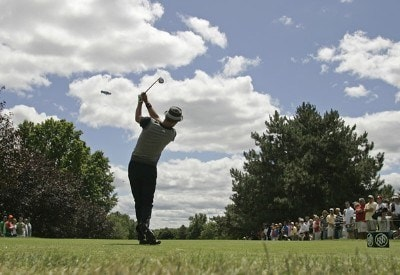 Jesper Parnevik tees off on #4 during the fourth and final round of the Buick Open held at Warwick Hills Golf & Country Club in Grand Blanc, Michigan, on July 1, 2007. Photo by: Chris Condon/PGA TOURPhoto by: Chris Condon/PGA TOUR