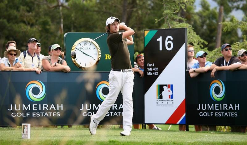 PAARL, SOUTH AFRICA - DECEMBER 20:  Michael Lorenzo-Vera of France tees off on the 16th hole during the third round of the South African Open Championship at Pearl Valley Golf & Country Club on December 20, 2008 in Paarl, South Africa.  (Photo by Warren Little/Getty Images)