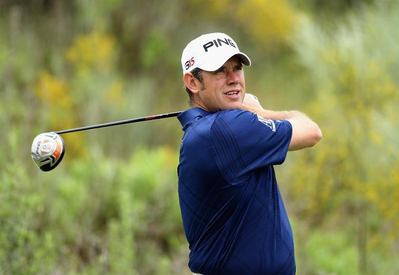 CASARES, SPAIN - MAY 19:  Lee Westwood of England tees off on the third hole during the group stages of the Volvo World Match Play Championships at Finca Cortesin on May 19, 2011 in Casares, Spain.  (Photo by Warren Little/Getty Images)