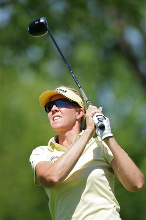 CORNING, NY - MAY 21:  Jill McGill of the United States watches her drive on the eighth hole during the first round of the LPGA Corning Classic at the Corning Country Club held on May 21, 2009 in Corning, New York.  (Photo by Michael Cohen/Getty Images)