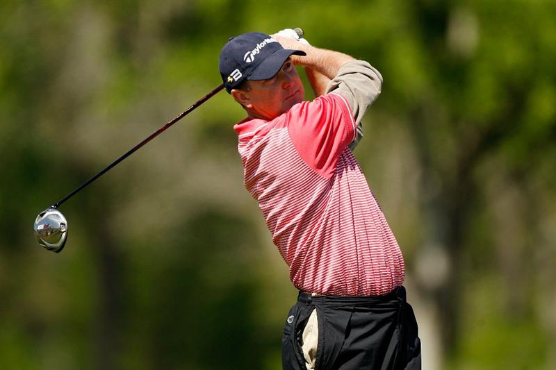 BROUSSARD, LA - MARCH 29:  Geoffrey Sisk tees off on the 4th hole during the final round of the 2009 Chitimacha Louisiana Open at Le Triomphe Country Club on March 29, 2009 in Broussard, Louisiana.  (Photo by Chris Graythen/Getty Images)