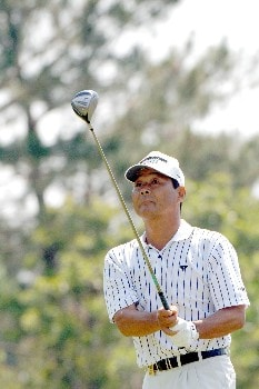 Hajime Meshiai tees off on the seventh  hole during the opening round of the 2005 Blue Angels Class  May 13 in Milton, Fl.  Meshiai, the first player to tee off in the tournament, was the early leader at five under par.Photo by Al Messerschmidt/WireImage.com