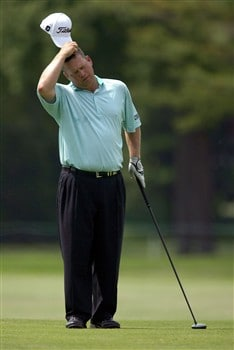 GRAND BLANC, MI - JUNE 27:  Dudley Hart waits to hit on the 16th hole during the second round at the Buick Open at Warwick Hills Country Club on June 27, 2008 in Grand Blanc, Michigan.  (Photo by Marc Serota/Getty Images)
