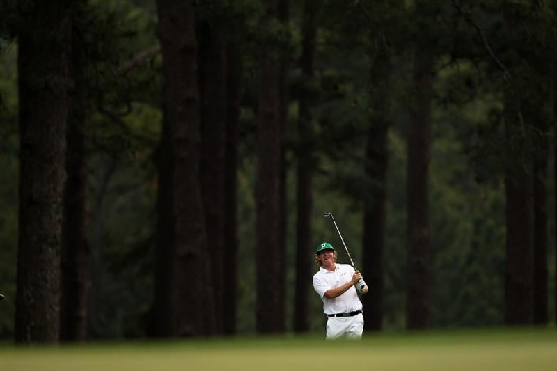 AUGUSTA, GA - APRIL 09:  Brandt Snedeker hits his third shot on the eighth hole during the third round of the 2011 Masters Tournament at Augusta National Golf Club on April 9, 2011 in Augusta, Georgia.  (Photo by Andrew Redington/Getty Images)
