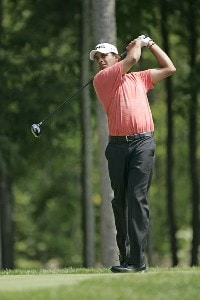 Arjun Atwal competes in the first round of the B.C. Open held on the Atunyote course at Turning Stone Resort in Vernon, New York, on July 20, 2006.