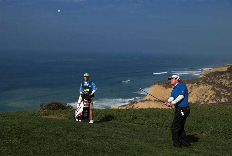 LA JOLLA, CA - JANUARY 31:  D.A. Points hits out of the rough on the fourth hole during the final round of the 2010 Farmers Insurance Open on January 31, 2010 at Torrey Pines Golf Course in La Jolla, California. (Photo by Donald Miralle/Getty Images)