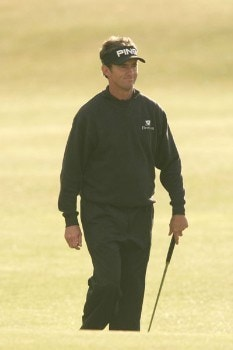 Mark Hensby on the 18th fairway during the first round of the 2005 British Open Golf Championship at the Royal and Ancient Golf Club in St. Andrews, Scotland on July 14, 2005Photo by Pete Fontaine/WireImage.com