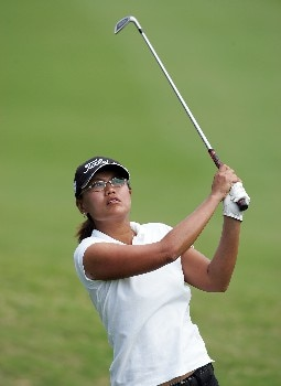 KAHUKU, HI - FEBRUARY 16:  Russy Gulyanamitta of Thailand hits her second shot on the 16th hole during the final round of the SBS Open on February 16, 2008  at the Turtle Bay Resort in Kahuku, Hawaii.  (Photo by Andy Lyons/Getty Images)