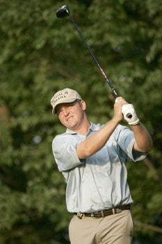 Jason Bohn during the second round of the 2005 PGA Championship at Baltusrol Golf Club in Springfield, New Jersey on August 12, 2005.Photo by Christopher Condon/WireImage.com