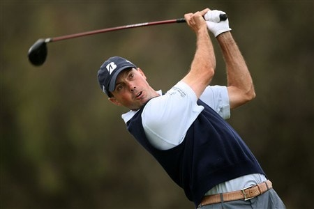 SAN DIEGO - JUNE 12:  Matt Kuchar hits his tee shot on the 12th hole during the first round of the 108th U.S. Open at the Torrey Pines Golf Course (South Course) on June 12, 2008 in San Diego, California.  (Photo by Donald Miralle/Getty Images)