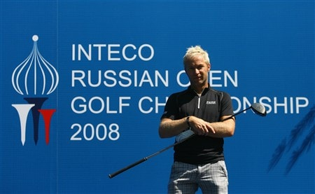 MOSCOW - JULY 23:  Per-Ulrik Johansson of Sweden poses for photographers during the Pro-Am of the Inteco Russian Open Championship at the Moscow Country Club July 23, 2008 in Moscow, Russia.  (Photo by Ian Walton/Getty Images)