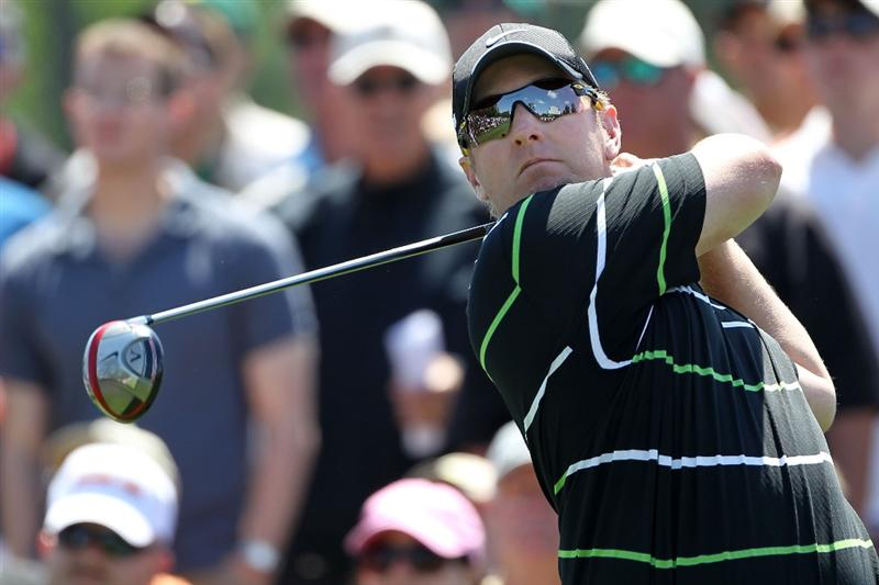 AUGUSTA, GA - APRIL 09:  David Duval watches his tee shot on the eighth hole during the second round of the 2010 Masters Tournament at Augusta National Golf Club on April 9, 2010 in Augusta, Georgia.  (Photo by Jamie Squire/Getty Images)