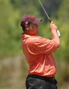 Johnson Wagner wears a Virginia Tech logo on his hat during the first round of the Zurich Classic of New Orleans on Thursday April 19, 2007 at the TPC Louisiana in Avondale, Louisiana PGA TOUR - 2007 Zurich Classic Gentleman Jack Event and GC Corporate Event - April 19, 2007
