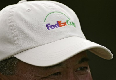 A volunteer with the FedEx Cup logo during the first round of the Mercedes-Benz Championship held on the Plantation Course at Kapalua in Kapalua, Maui, Hawaii, on January 4, 2007. PGA TOUR - 2007 Mercedes-Benz Championship - First RoundPhoto by Sam Greenwood/WireImage.com