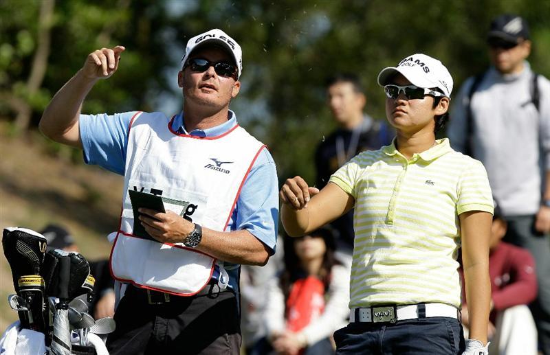 SHIMA, JAPAN - NOVEMBER 06:  Yani Tseng of Taiwan on the 4th hole during round two of the Mizuno Classic at Kintetsu Kashikojima Country Club on November 6, 2010 in Shima, Japan.  (Photo by Chung Sung-Jun/Getty Images)