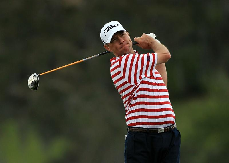 ORLANDO, FL - MARCH 25:  Davis Love III of the USA drives at the 16th hole during the first round of the Arnold Palmer Invitational presented by Mastercard at the Bayhill Club and Lodge, on March 25, 2010 in Orlando, Florida.  (Photo by David Cannon/Getty Images)