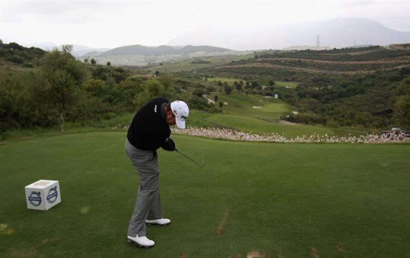 CASARES, SPAIN - MAY 18:  Lee Westwood of England hits his tee-shot on the tenth hole during the Pro Am prior to the start of the Volvo World Match Play Championship at Finca Cortesin on May 18, 2011 in Casares, Spain.  (Photo by Andrew Redington/Getty Images)
