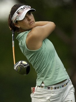 WILLIAMSBURG, VA - MAY 11:  Stacy Prammanasudh hits her drive on the 9th hole in Round 2 of the LPGA Michelob ULTRA Open at Kingsmill on May 11, 2007, in Williamsburg, Virginia.  (Photo by Jonathan Ernst/Getty Images)