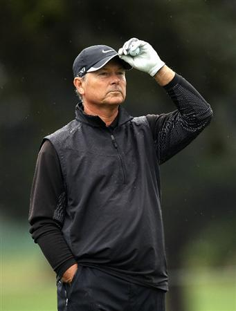 SAN FRANCISCO - NOVEMBER 07:  John Cook waits to putt on the 2nd hole during the final round of the Charles Schwab Cup Championship at Harding Park Golf Course on November 7, 2010 in San Francisco, California.  (Photo by Ezra Shaw/Getty Images)