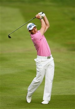 VIRGINIA WATER, UNITED KINGDOM - MAY 22:  Paul Streeter of England during Day 1 of the BMW PGA Championship at Wentworth on May 22, 2008 in Virginia Water, England.  (Photo by Andrew Redington/Getty Images)