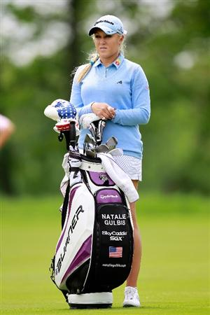 GLADSTONE, NJ - MAY 19:  Natalie Gulbis stands on the seventh fairway during round one of the Sybase Match Play Championship at Hamilton Farm Golf Club on May 19, 2011 in Gladstone, New Jersey.  (Photo by Chris Trotman/Getty Images)
