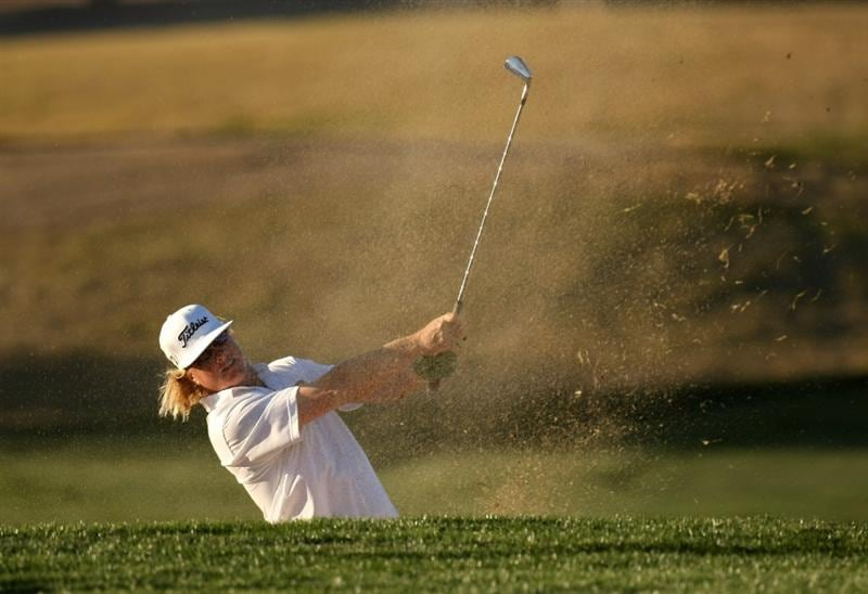 SCOTTSDALE, AZ - JANUARY 30: Charley Hoffman hits from a fairway bunker on the eighth hole during the second round of the FBR Open on January 30, 2009 at TPC Scottsdale in Scottsdale, Arizona. (Photo by Stephen Dunn/Getty Images)