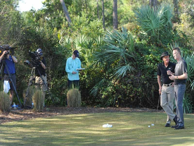 Golf Chanel Academy, Greg Norman and Rich Lerner
