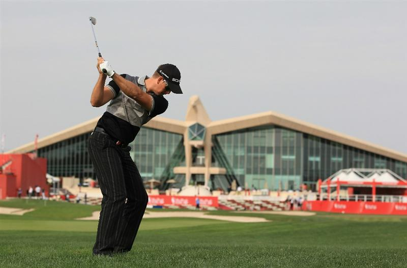 ABU DHABI, UNITED ARAB EMIRATES - JANUARY 19:  Henrik Stenson of Sweden in action during the Pro Am prior to the start of The Abu Dhabi HSBC Golf Championship at Abu Dhabi Golf Club on on January 19, 2011 in Abu Dhabi, United Arab Emirates.  (Photo by Andrew Redington/Getty Images)
