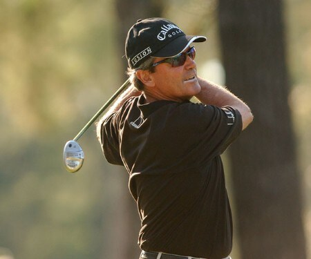 Mark McNulty hits from the 15th tee during the final round of the Champion's TOUR Administaff Small Business Classic at Augusta Pines Country Club in Spring, Texas October 16, 2005Photo by Steve Grayson/WireImage.com