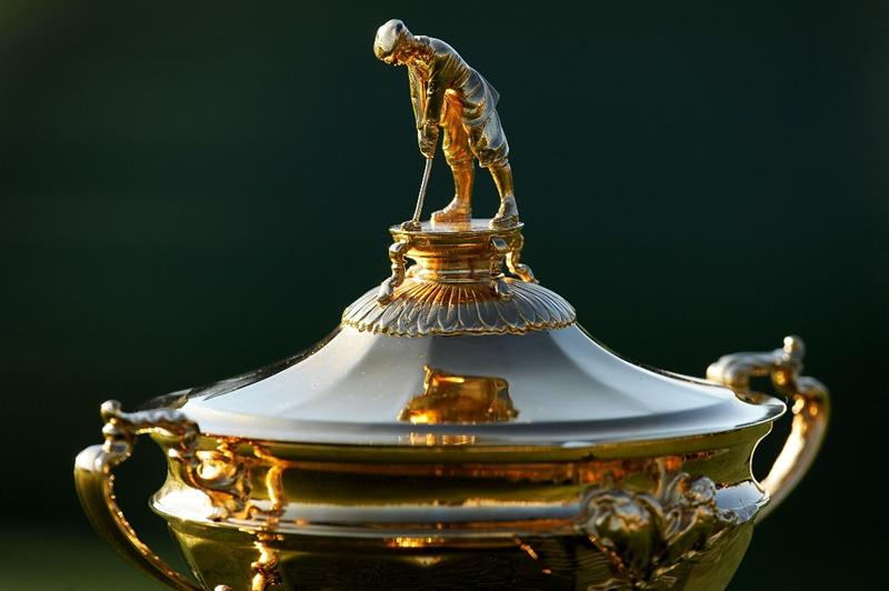 LOUISVILLE, KY - SEPTEMBER 17:  The Ryder Cup is seen during the USA team photo shoot prior to the 2008 Ryder Cup at Valhalla Golf Club on September 17, 2008 in Louisville, Kentucky.  (Photo by Harry How/Getty Images)